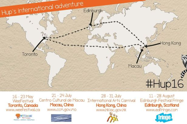 Hup's international adventures