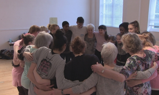 Group Hug rehearsal Photo Joel Venet